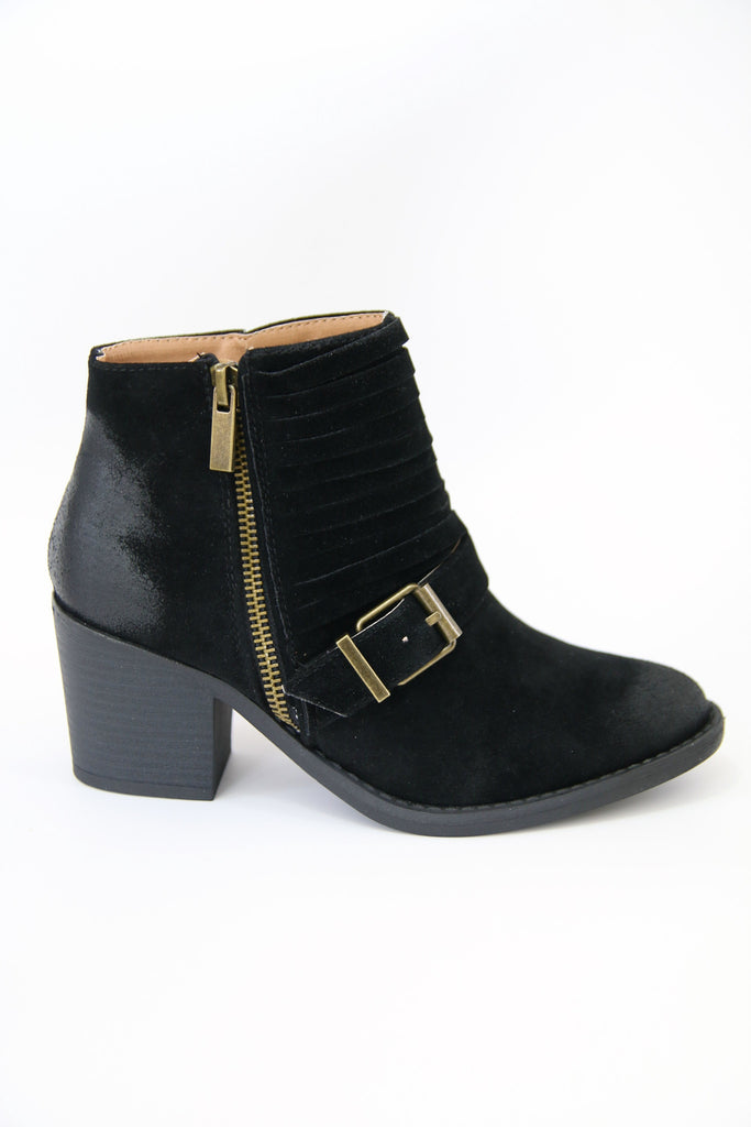Black Buckled Bootie