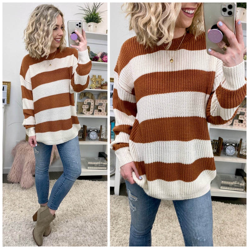Bedford Block Stripe Sweater - Madison + Mallory