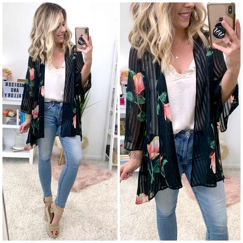 Best of Me Floral Kimono - Madison + Mallory