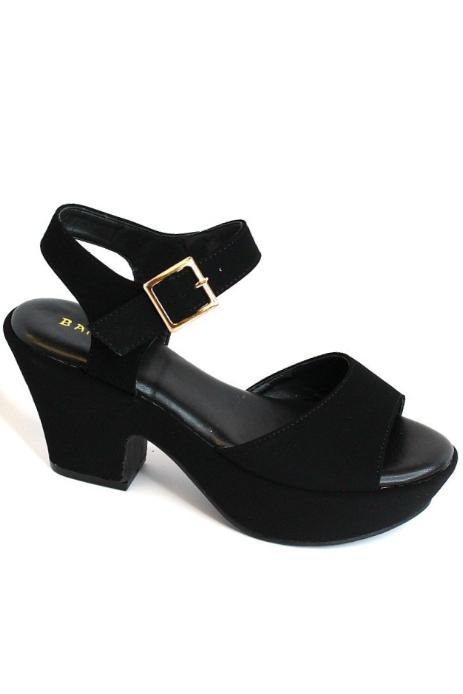6 / Black Make Your Own Way Block Heels - Madison + Mallory