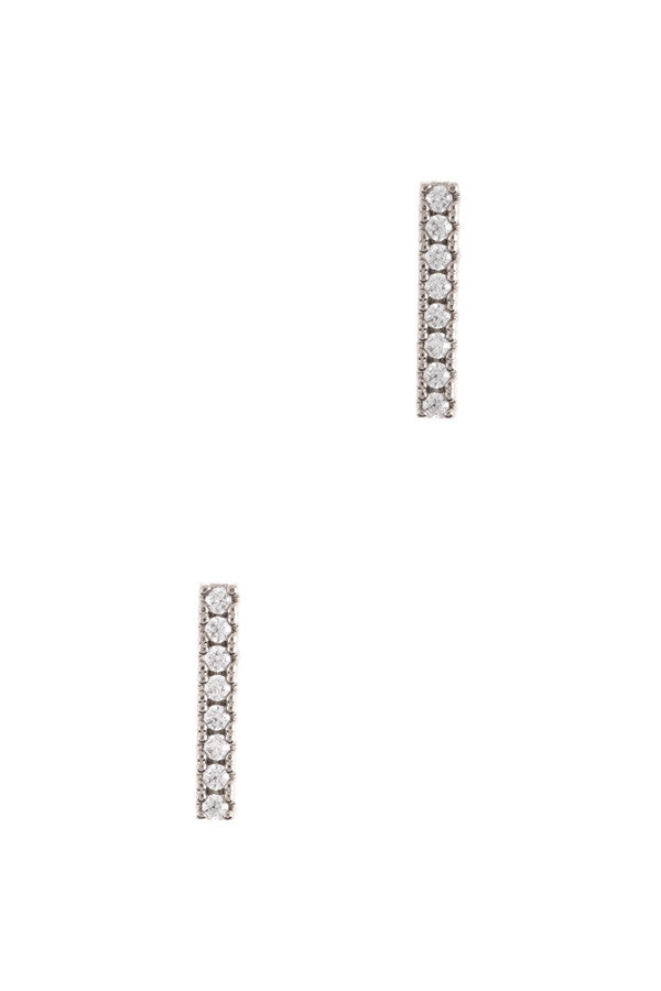 CZ Tiny Bar Earrings