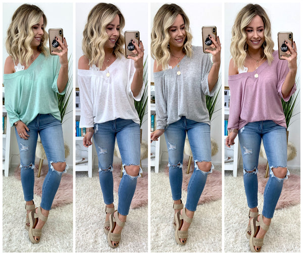 Candler Off Shoulder Knit Top - Madison + Mallory