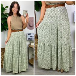 Change of Scenery Floral Tiered Maxi Skirt - Madison and Mallory