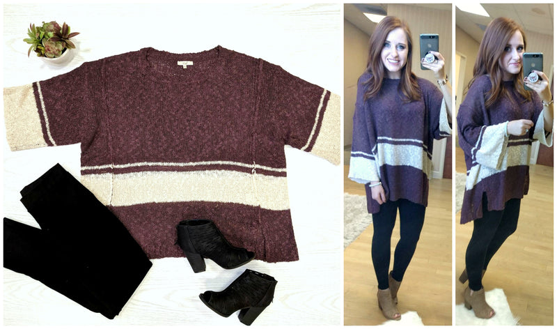 Color Block Knit Sweater - Madison + Mallory