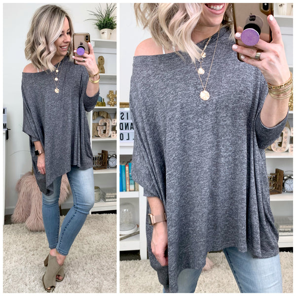Cordelia Draped Knit Tunic - Madison + Mallory