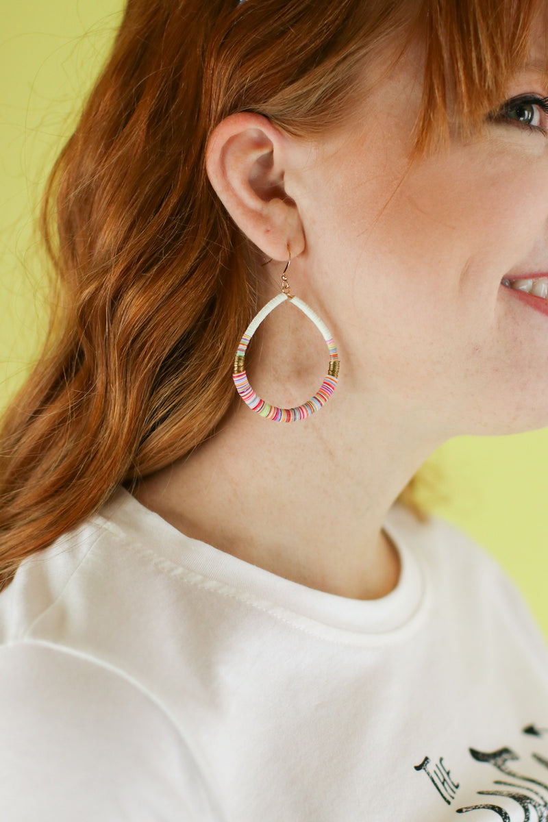 Far Away Places Multi Color Beaded Earrings - Madison and Mallory