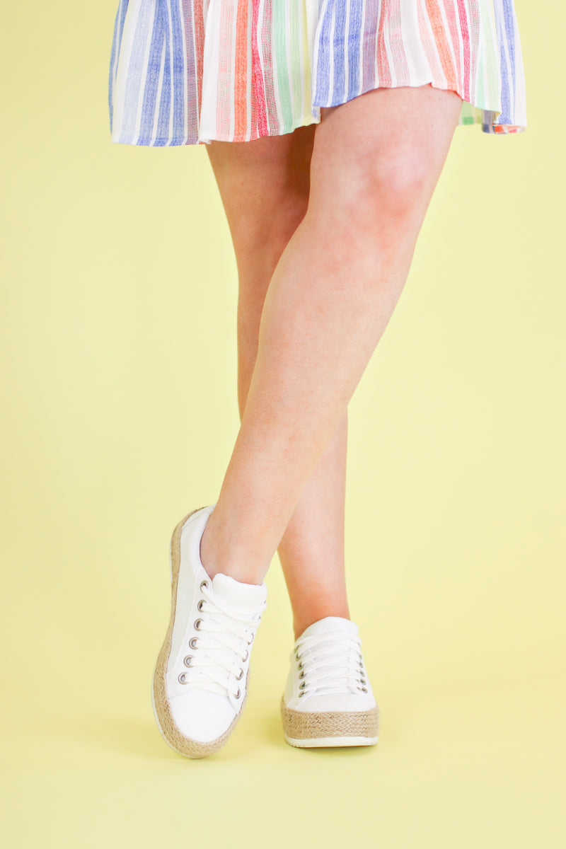 Keana Espadrille Platform Sneakers - Madison and Mallory