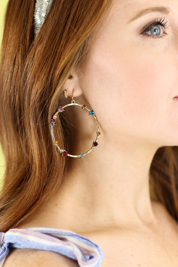Multi Great Wide Somewhere Rainbow Earrings - Madison and Mallory