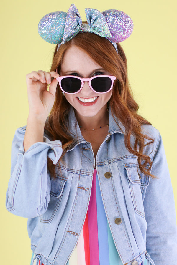 Pink Sky High Round Sunglasses - Madison and Mallory