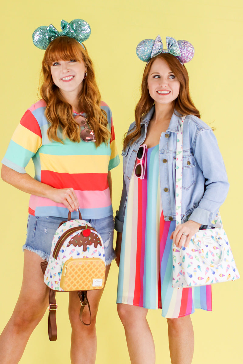 Tea Party Rainbow Striped Dress - Madison and Mallory
