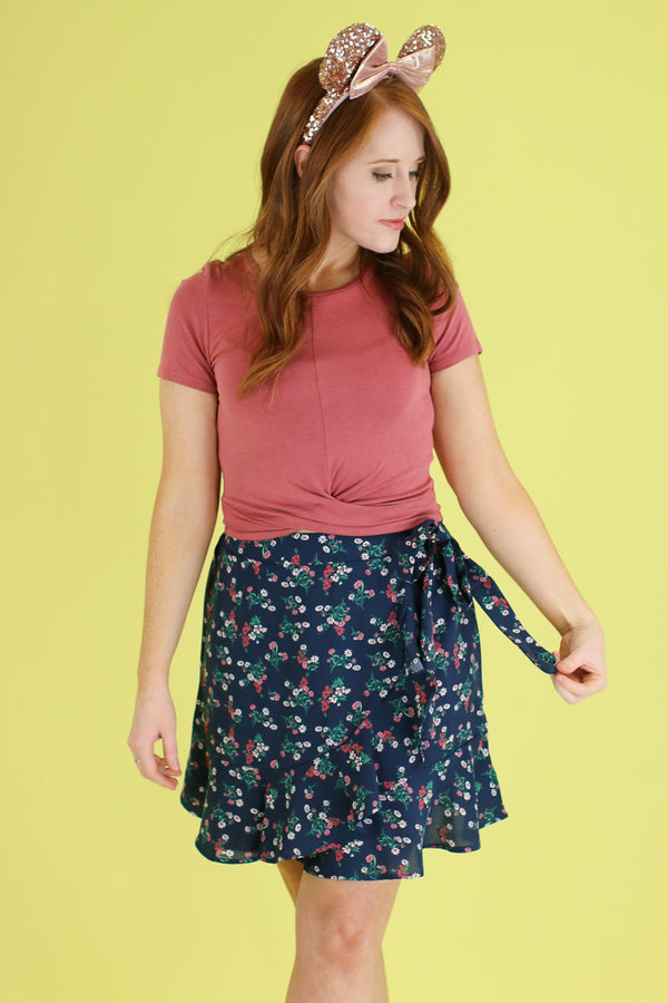 Fancy Free Floral Wrap Skirt - FINAL SALE - Madison and Mallory