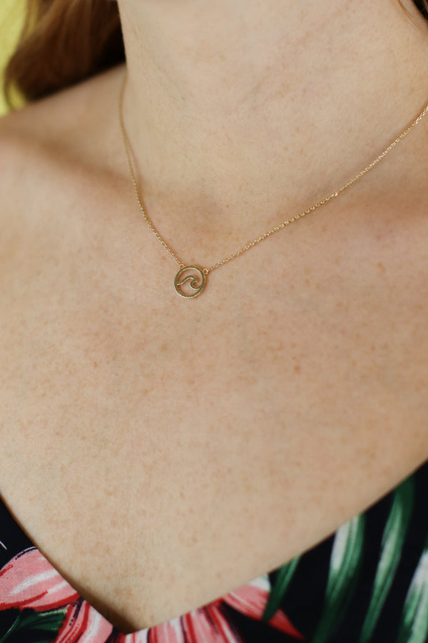 Gold Sky Meets the Sea Wave Necklace - Madison and Mallory
