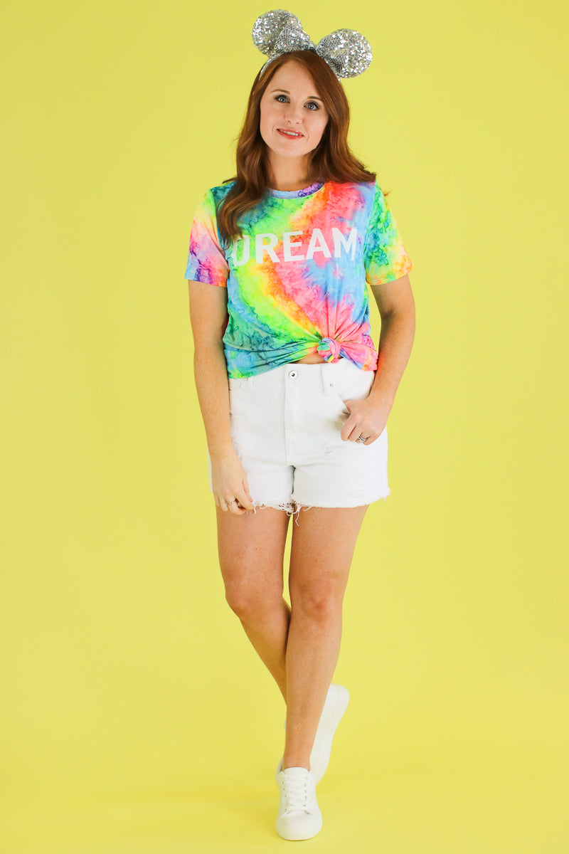Dream Tie Dye Graphic Top - FINAL SALE - Madison and Mallory
