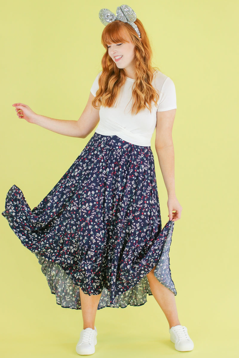 Smooth Operator Floral Ruffle Skirt - Madison and Mallory