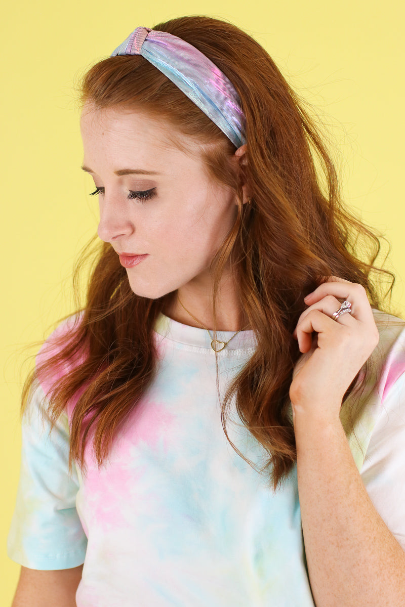 Pink Constant Surprise Iridescent Headband - Madison and Mallory