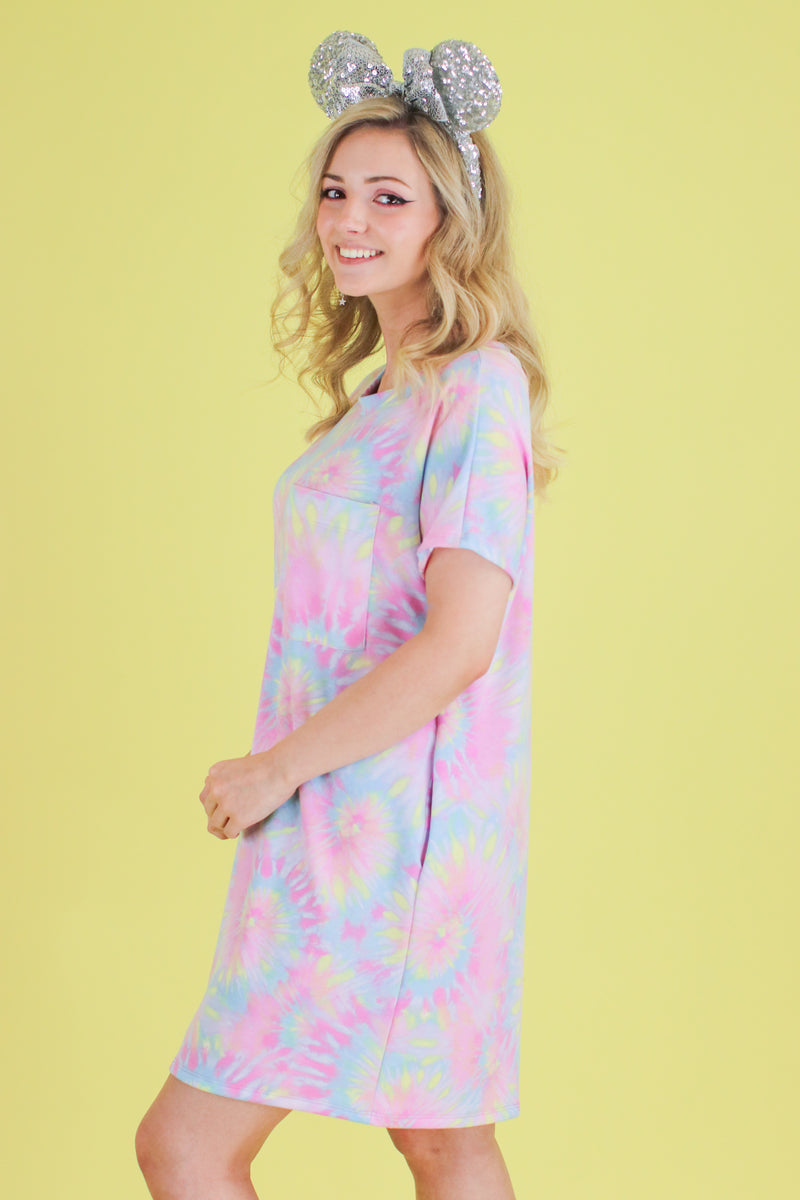Daughtry Tie Dye Shirt Dress - FINAL SALE - Madison and Mallory