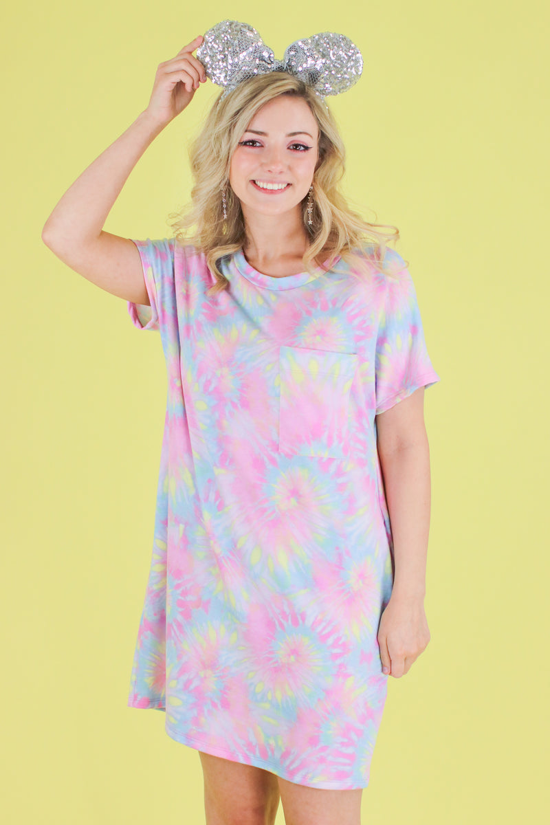 Daughtry Tie Dye Shirt Dress - Madison and Mallory