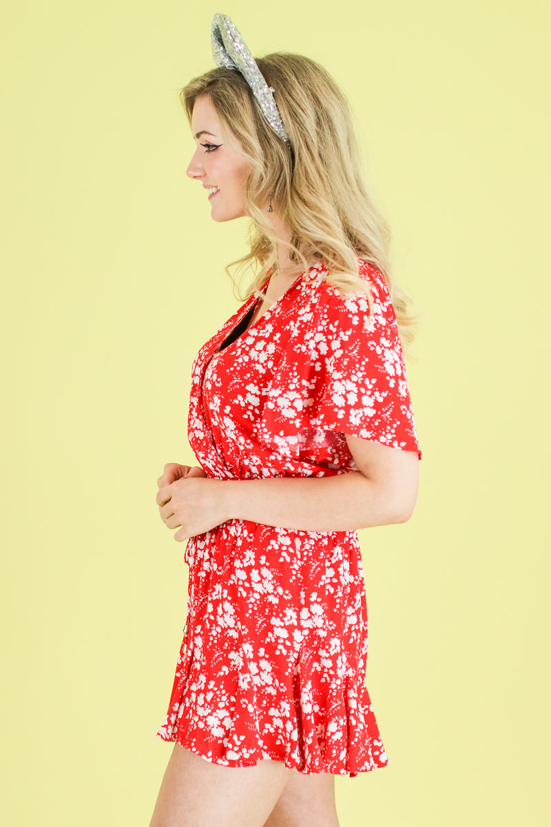 Darling Daisies Floral Romper | CURVE - Madison and Mallory