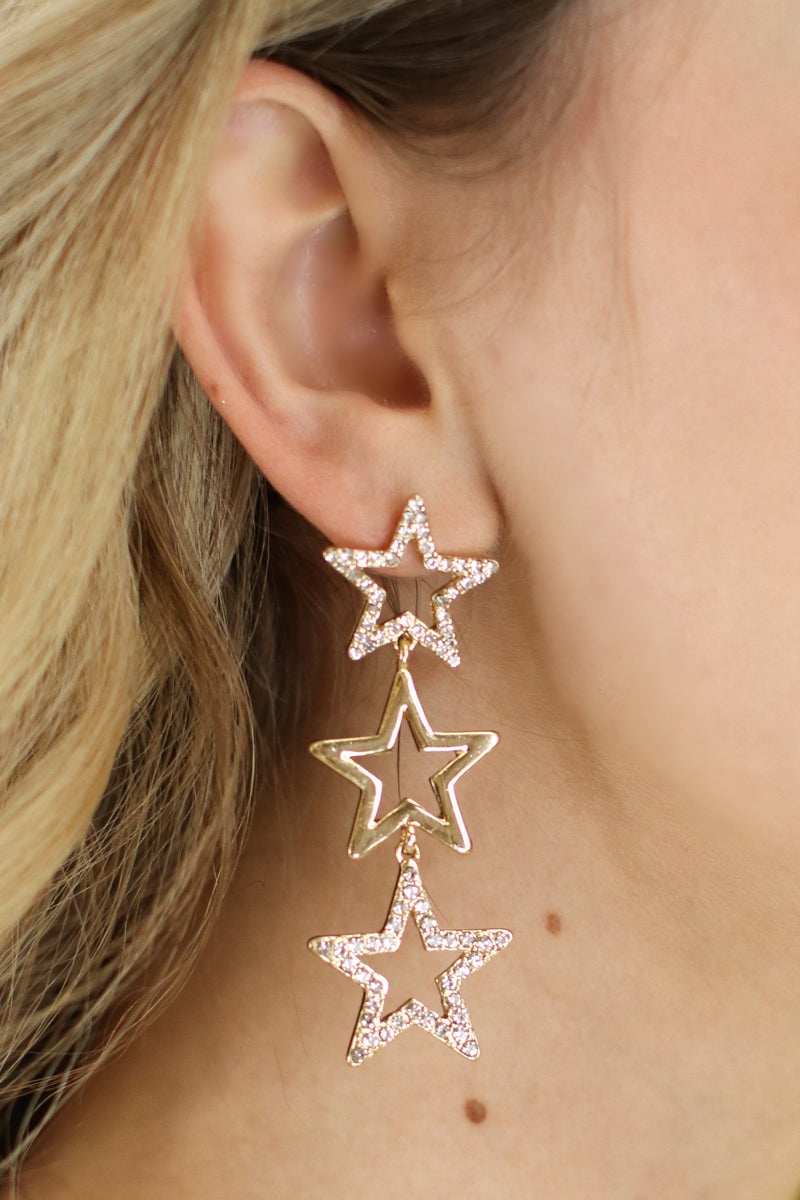 Make Your Wish Star Drop Earrings - Madison and Mallory