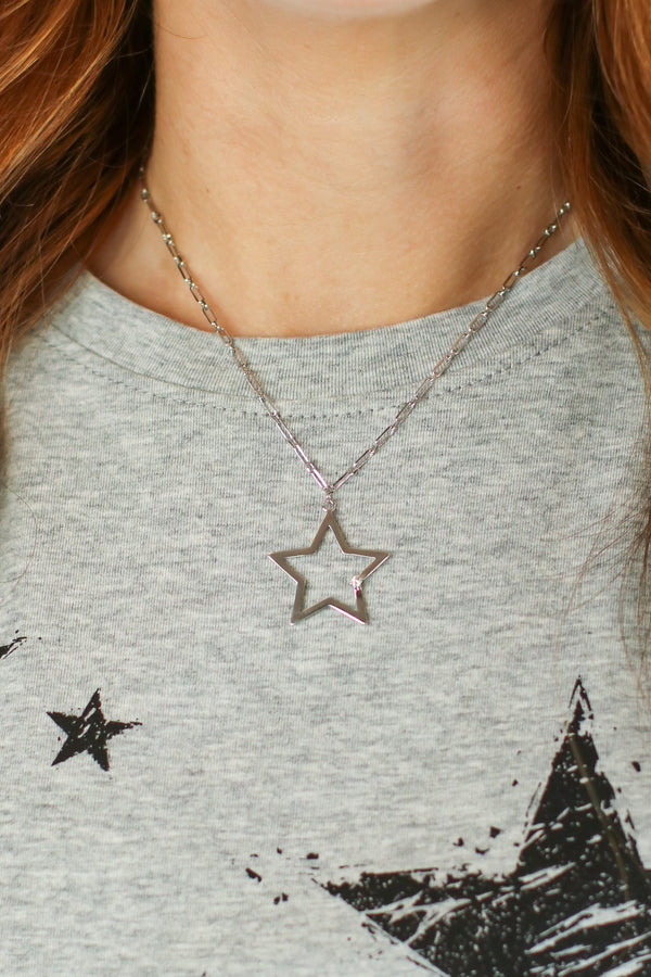 Silver Now Starring 14K CZ Star Necklace - Madison and Mallory