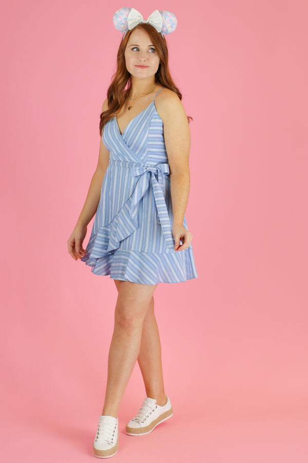 Jessie Striped Tie Waist Dress - Madison and Mallory