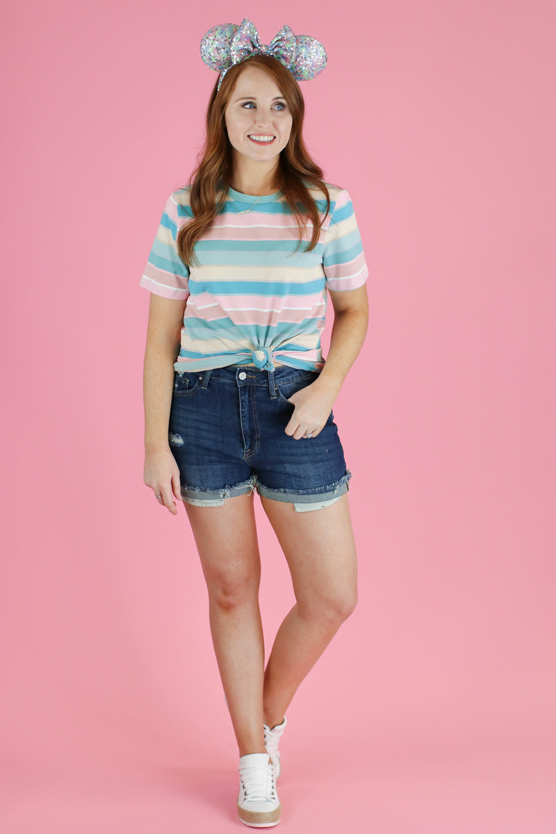 Topic of Gossip Striped Top - FINAL SALE - Madison and Mallory