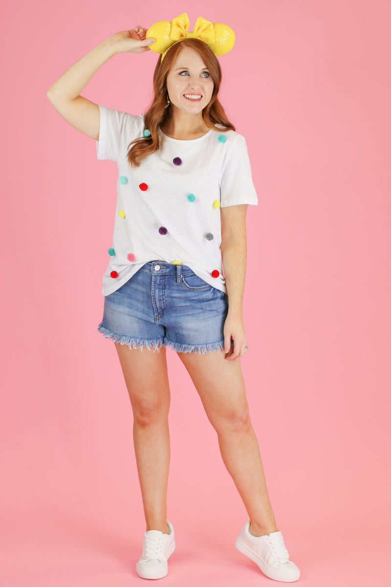 Whimsical Wonder Pom Pom Accent Top - Madison and Mallory