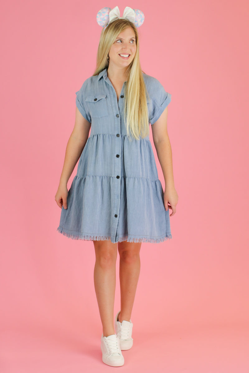 Frontier Tiered Ruffle Dress | CURVE - FINAL SALE - Madison and Mallory