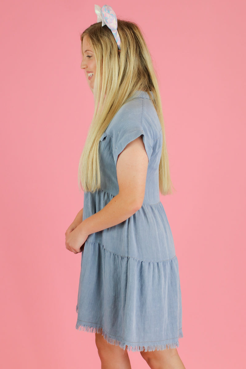 Frontier Tiered Ruffle Dress | CURVE - Madison and Mallory