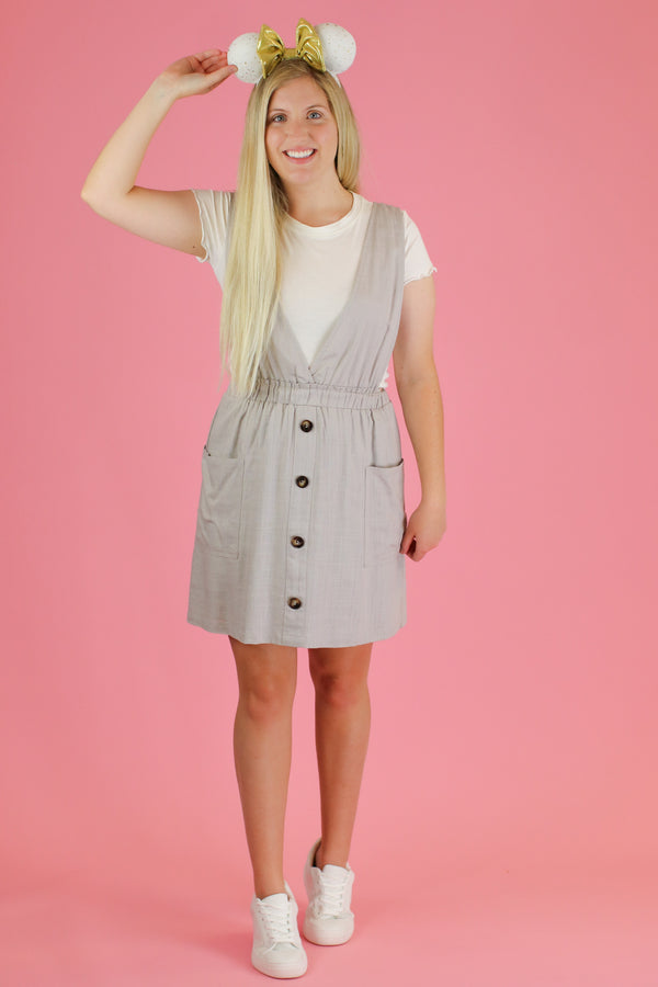 Louvre Button Dress - FINAL SALE - Madison and Mallory