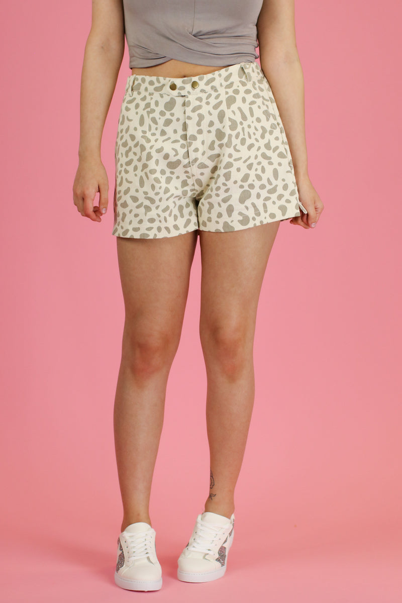 Safari Animal Print Shorts - Madison and Mallory