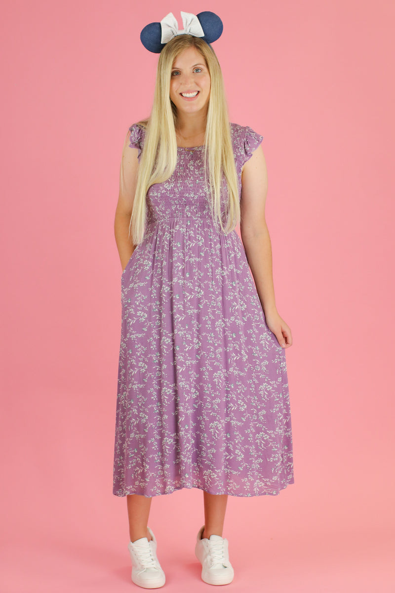 Gleam and Glow Floral Midi Dress - Madison and Mallory