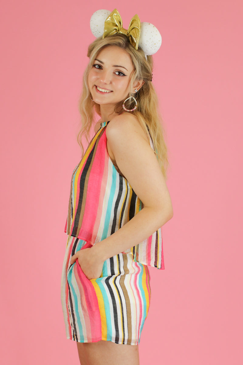 Look for Happiness Stripe Romper - FINAL SALE - Madison and Mallory