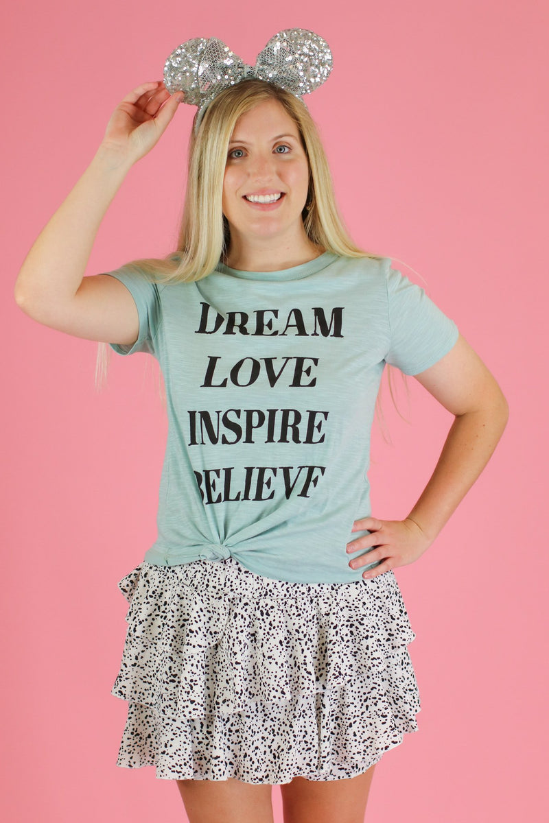 Dream Love Inspire Believe Graphic Top - FINAL SALE - Madison and Mallory