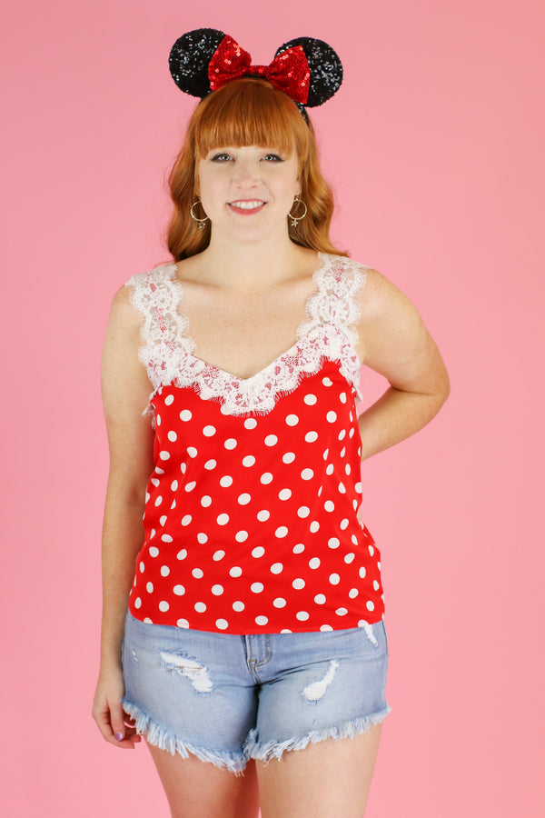 Beautiful Reason Polka Dot Lace Top - Madison and Mallory