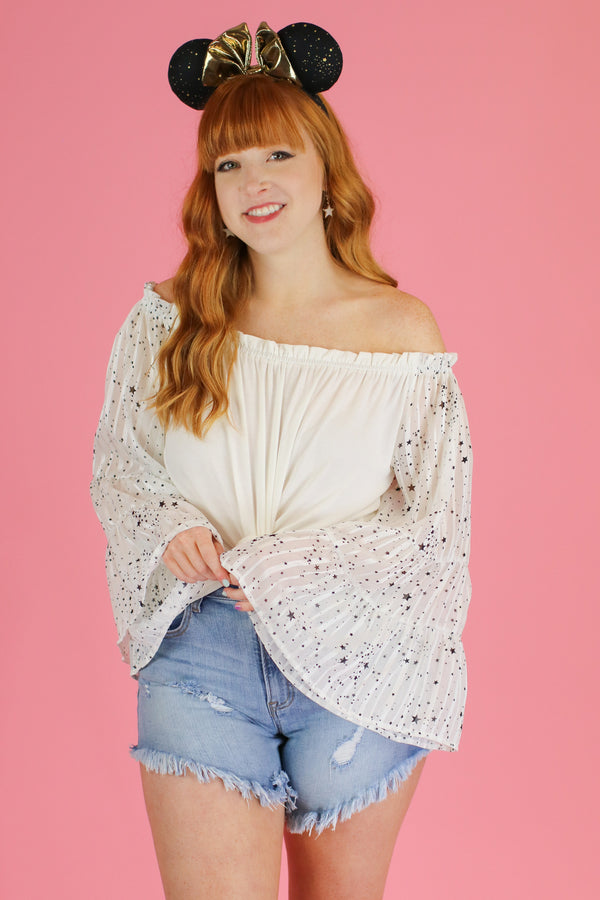 Alternate Dimension Off Shoulder Star Top - Madison and Mallory