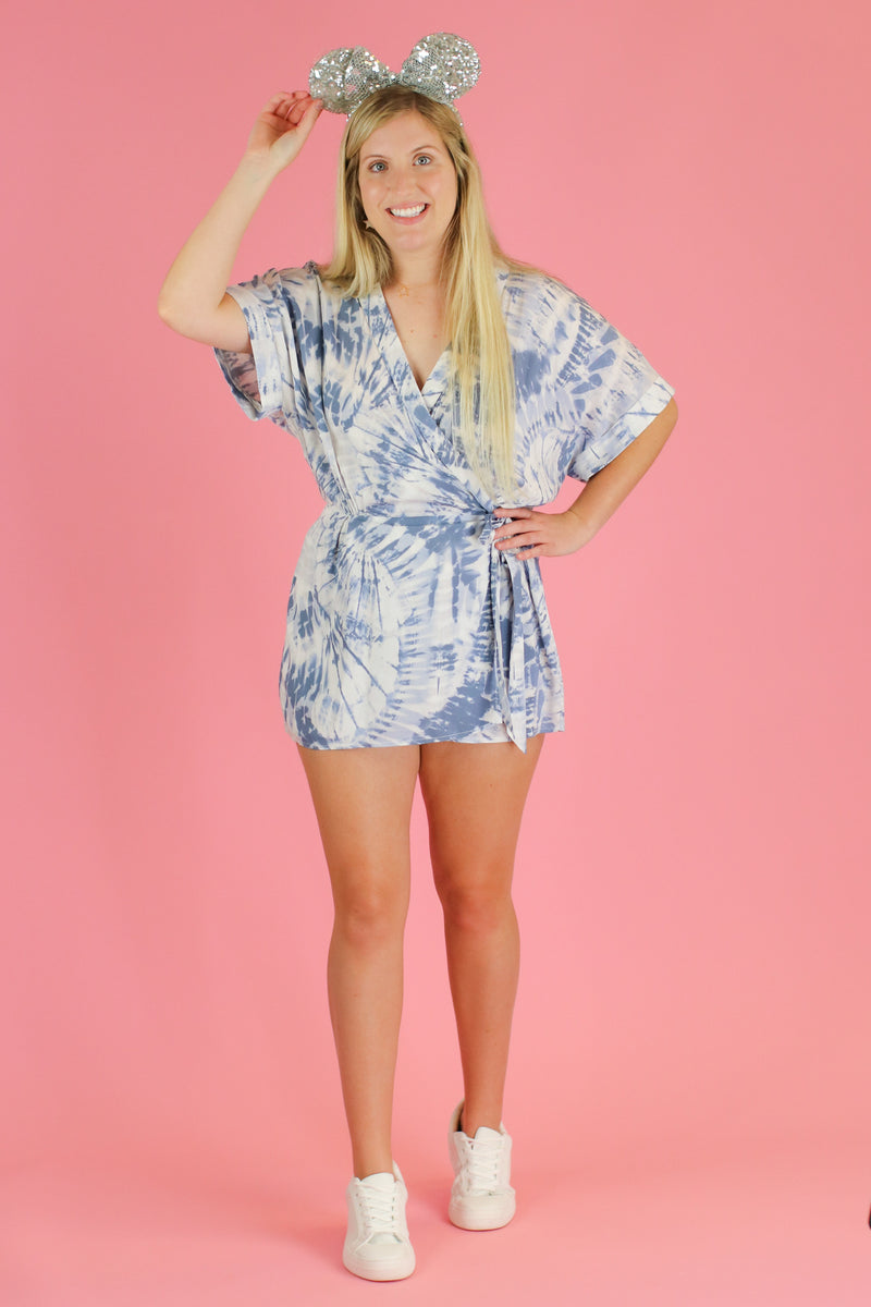 Day by Day Tie Dye Skort Romper - FINAL SALE - Madison and Mallory