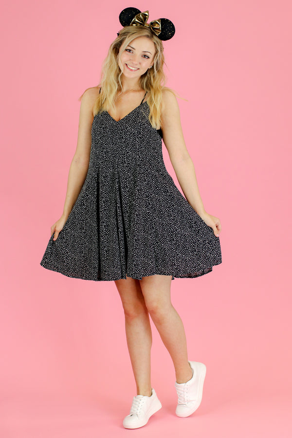 My Plus One Dot Print Flare Dress - FINAL SALE - Madison and Mallory