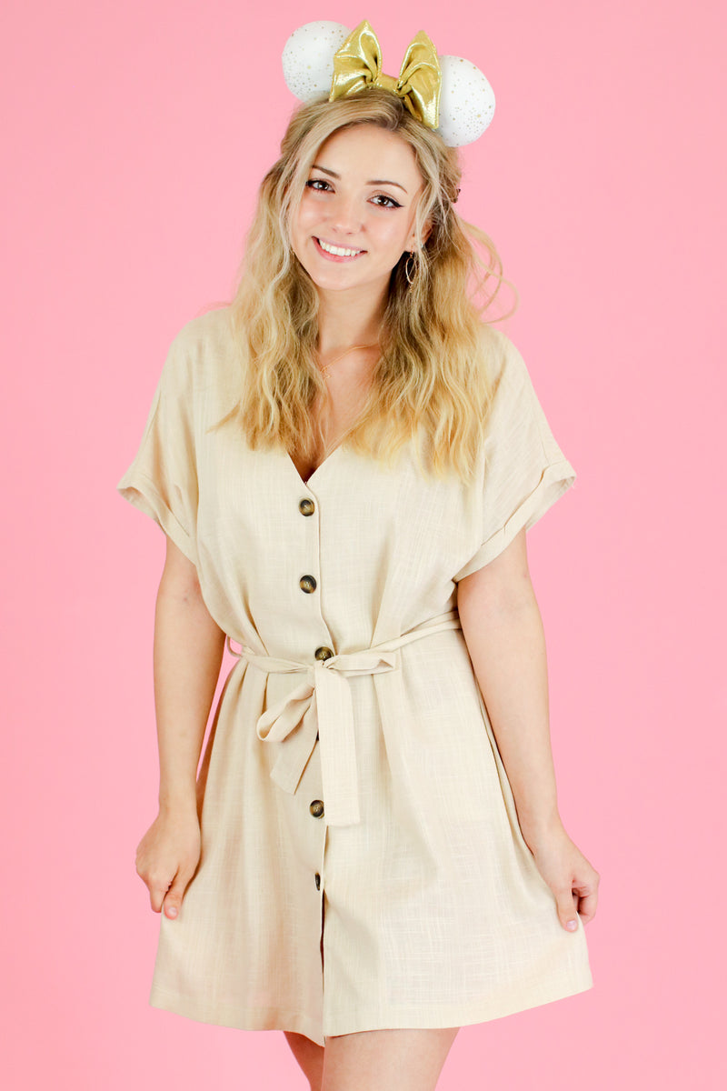 Vault Button Down Shirt Dress - FINAL SALE - Madison and Mallory