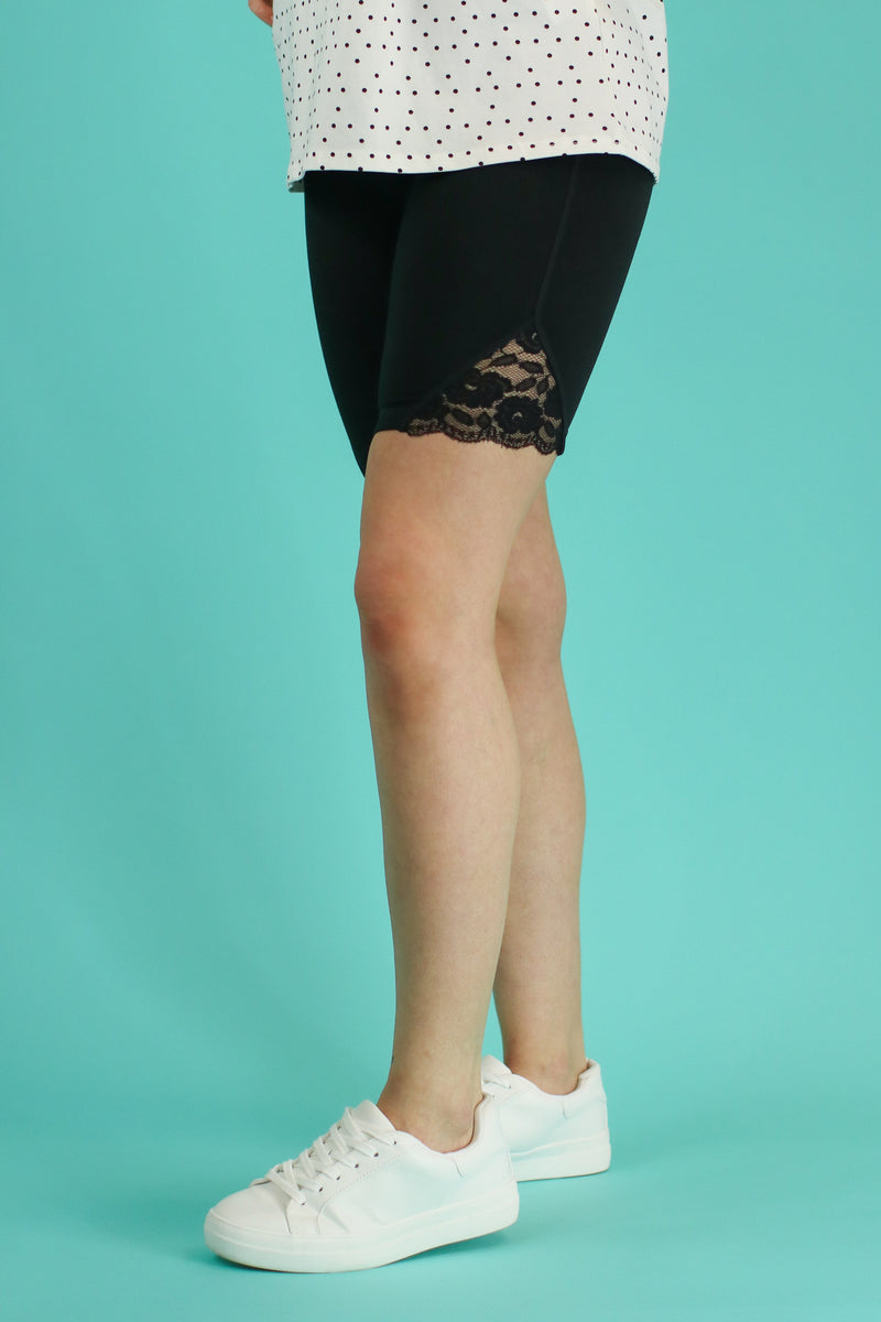 Movement Lace Biker Shorts - Madison and Mallory