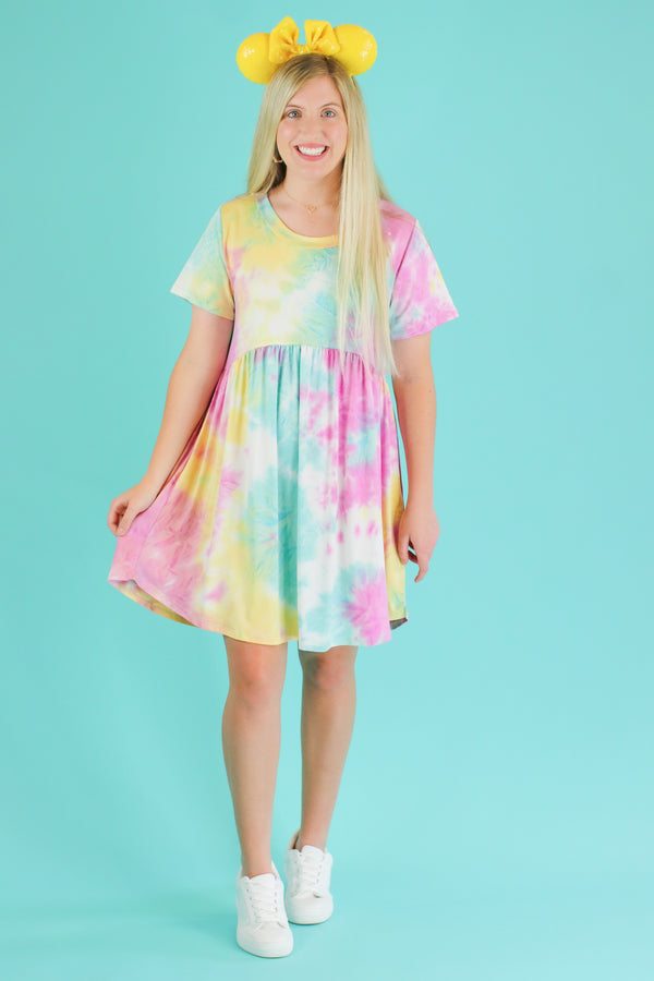 Snow Cone Tie Dye Babydoll Dress | CURVE - FINAL SALE - Madison and Mallory
