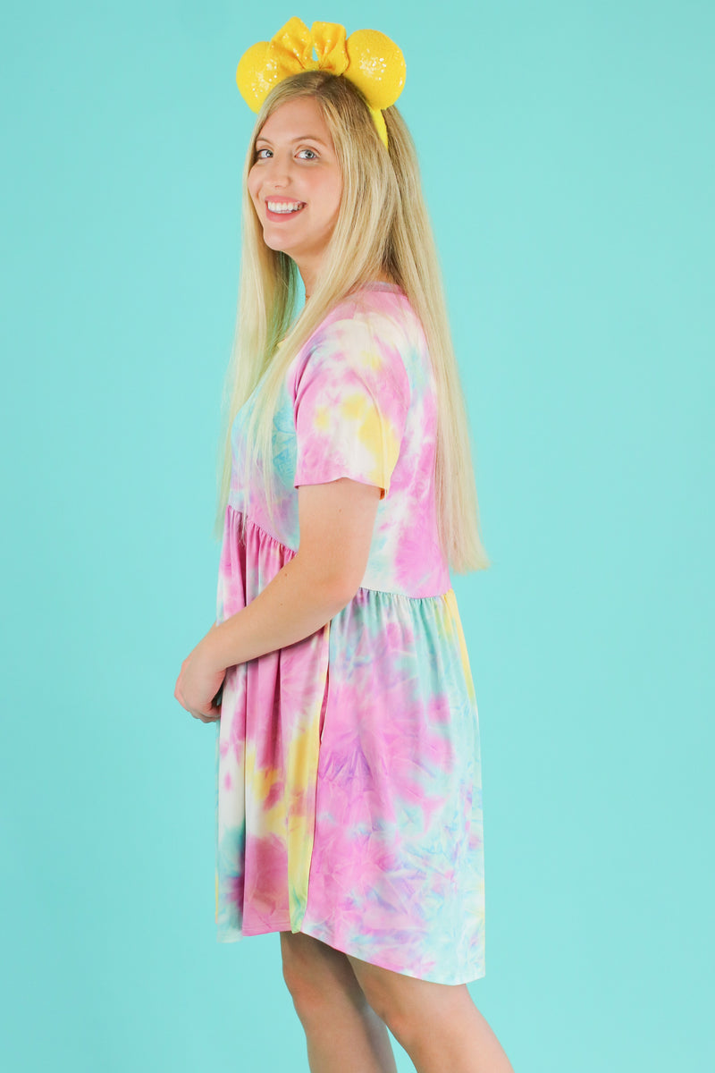 Snow Cone Tie Dye Babydoll Dress | CURVE - Madison and Mallory