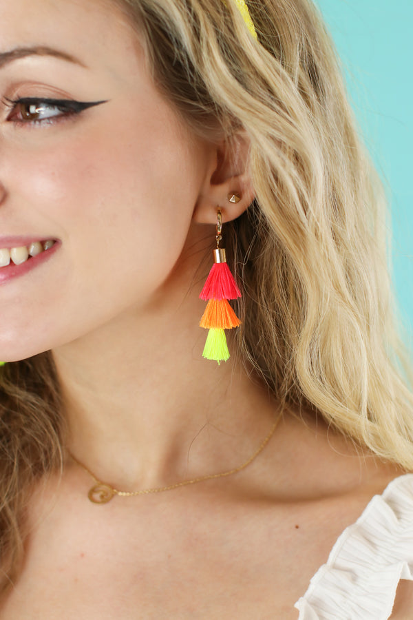 Desert Isle Tassel Drop Earrings - Madison and Mallory