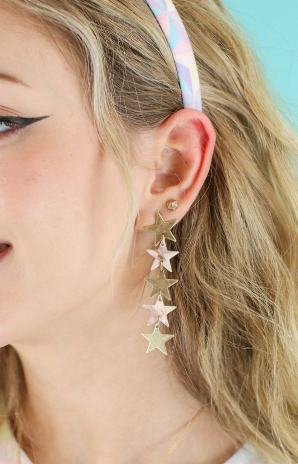 Natural Rising Star Dangle Earrings - Madison and Mallory