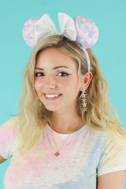 Multi Spark of Light Geometric Ears - Madison and Mallory