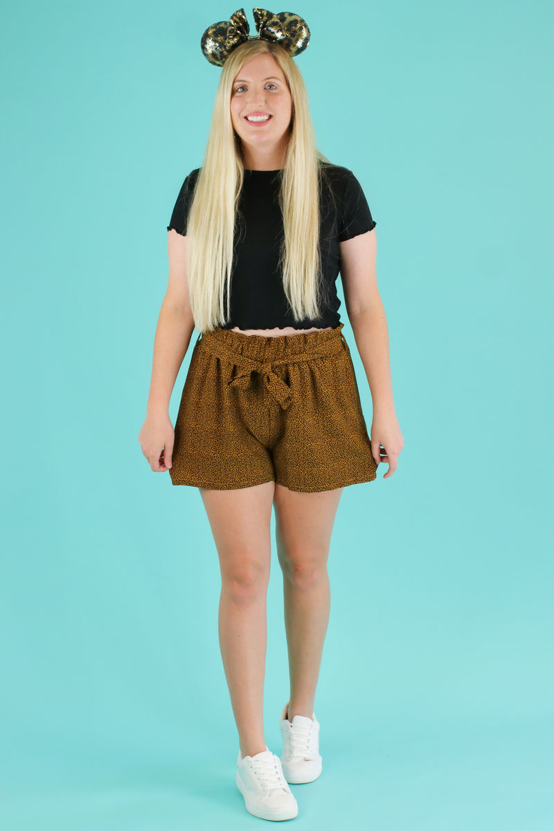 Shere Khan Tie Waist Shorts - Madison and Mallory
