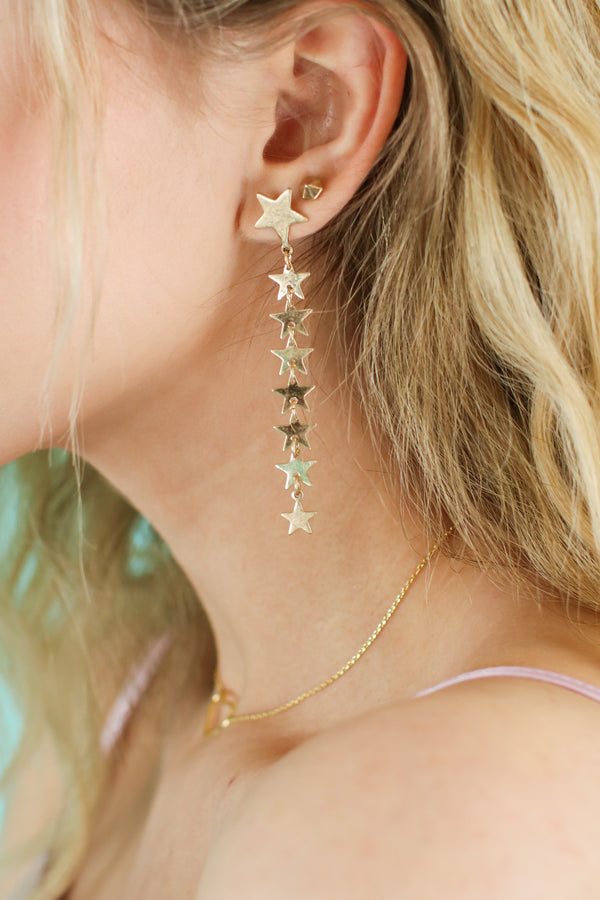 Gold Look To The Sky Dangle Earrings - Madison and Mallory