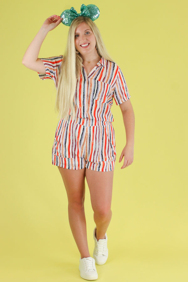 Go for the Bold Striped Romper - Madison and Mallory