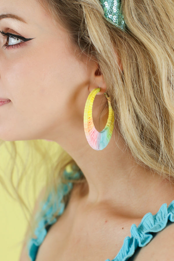 Sun Seeking Rainbow Hoop Earrings - Madison and Mallory