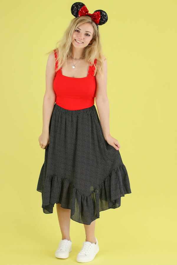 In a World of My Own Polka Dot Skirt - FINAL SALE - Madison and Mallory